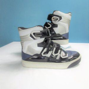 🌻Coogi Blue Black Silver Leather  High Tops 7.5
